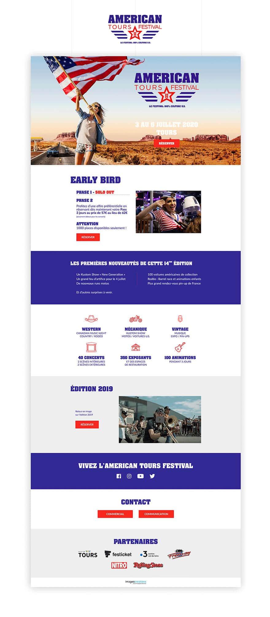 Site web American Tour Festival