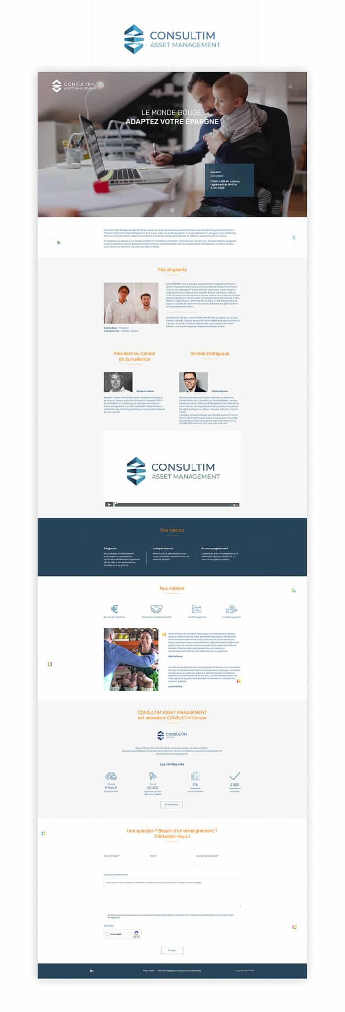 Site web Consultim Asset Management (CAM)