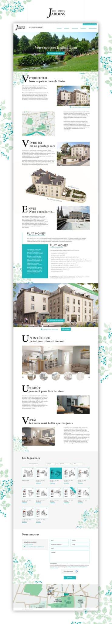 Site web les Hauts Jardins Cholet