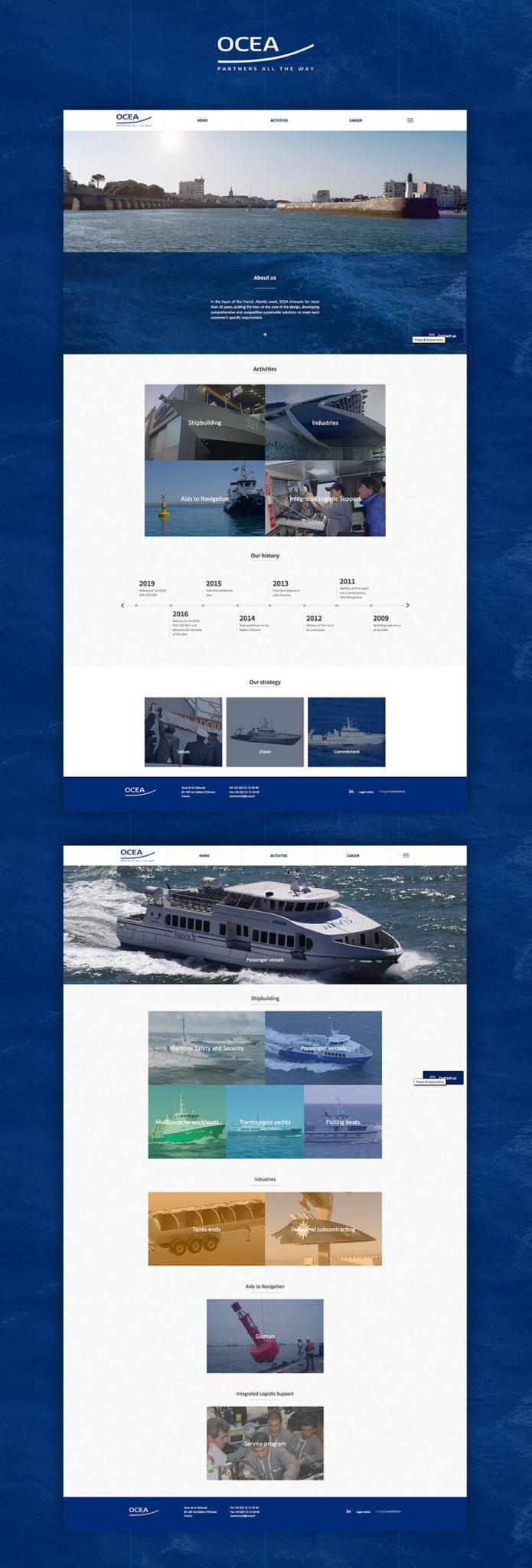 Ocea site web