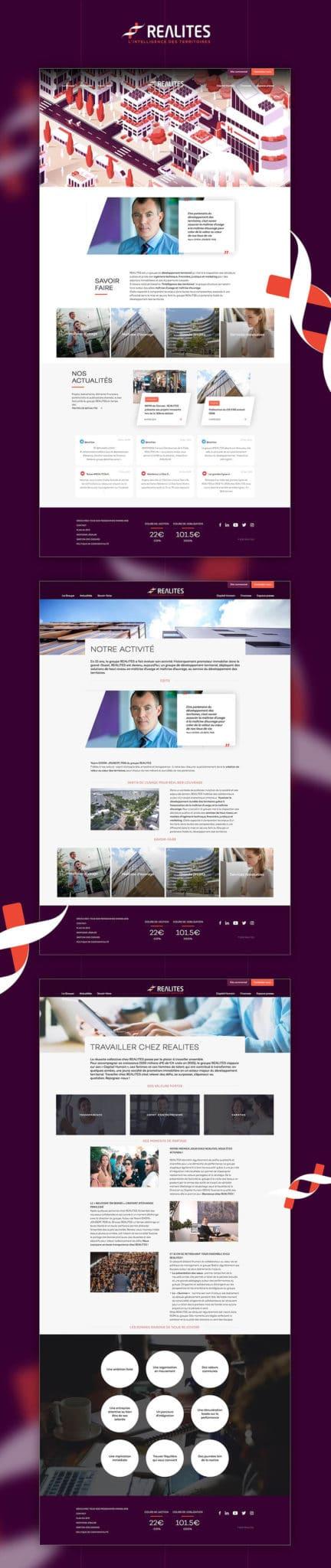 Site web Groupe Réalités