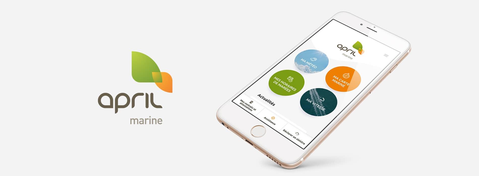 Application mobile APRIL Marine