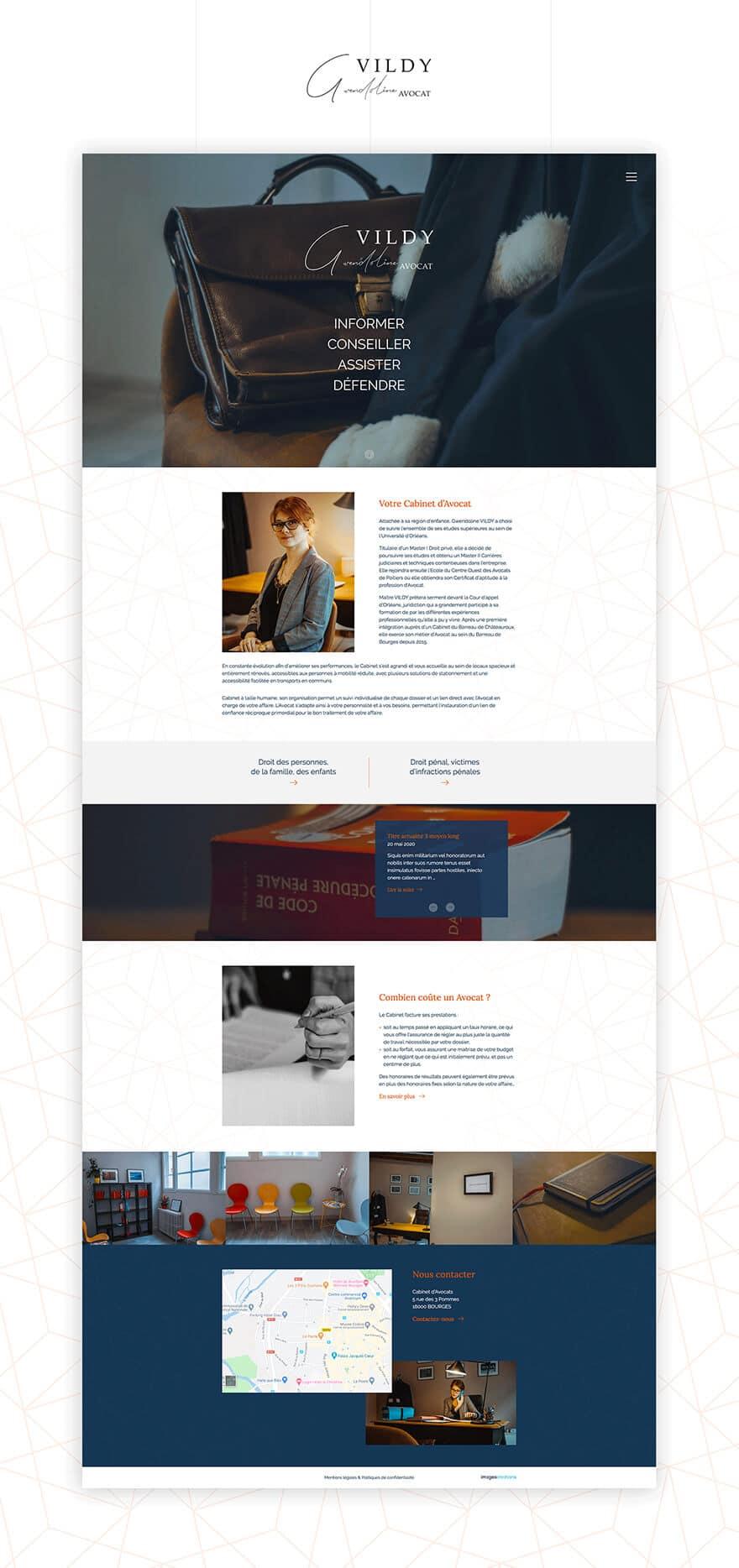 Site web Gwendoline Vildy Avocat