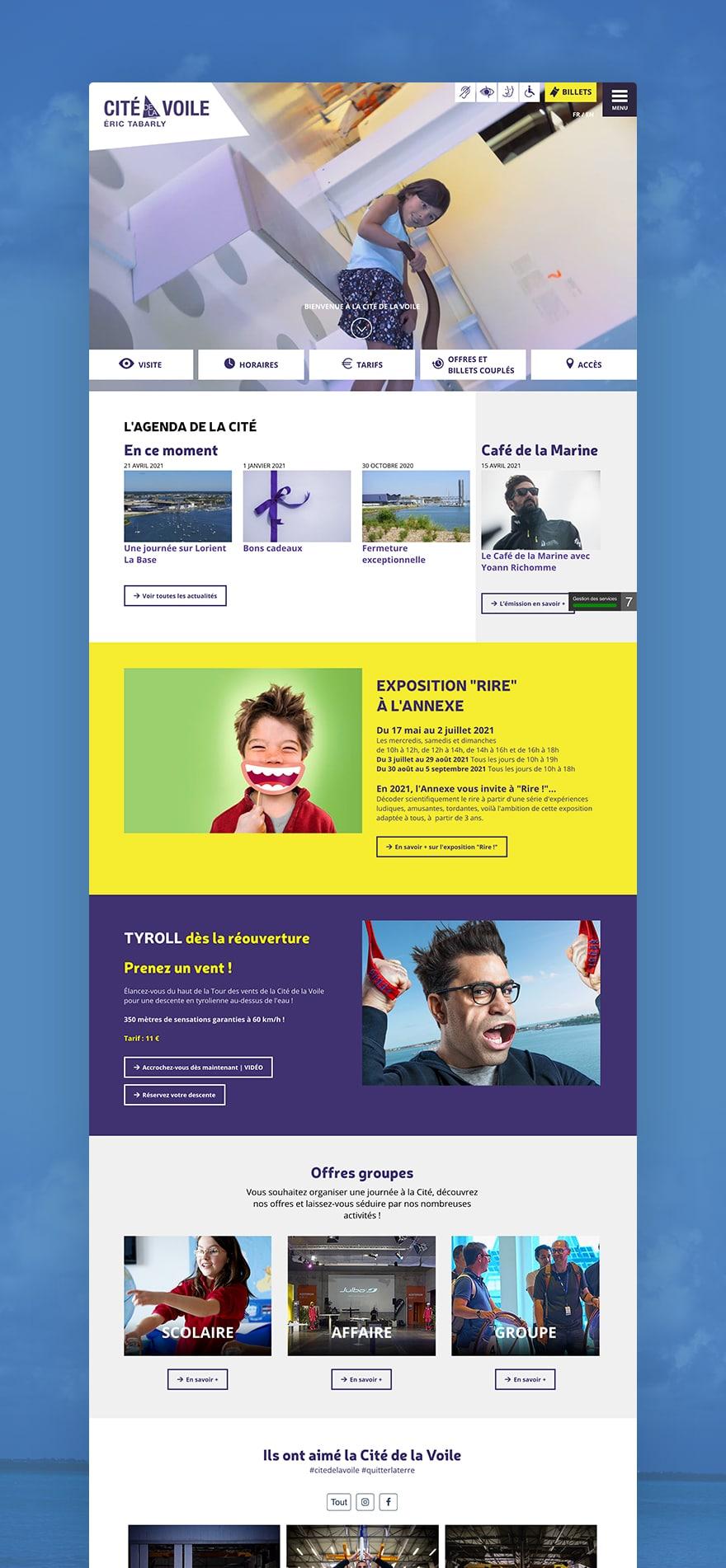 Site web Cité de la Voile