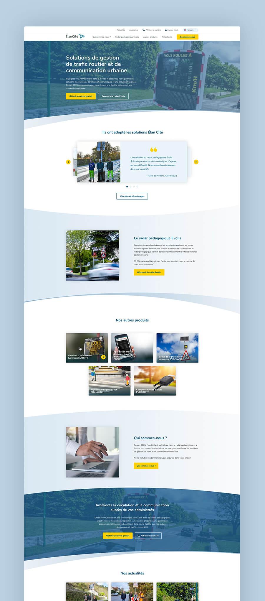 Site web Élancité
