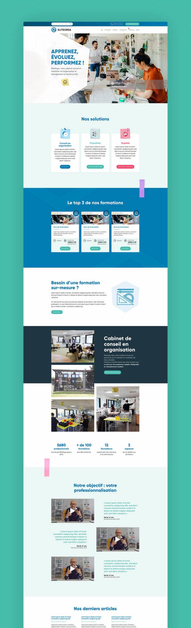 Site web EliteOrga