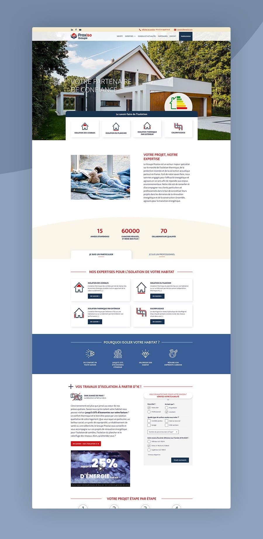 Site web Proxiso
