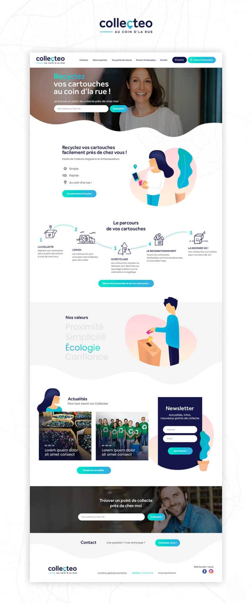 Site web Collecteo