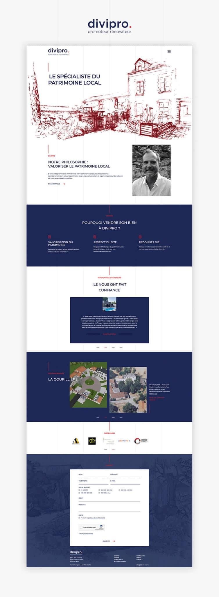 Site web Divipro