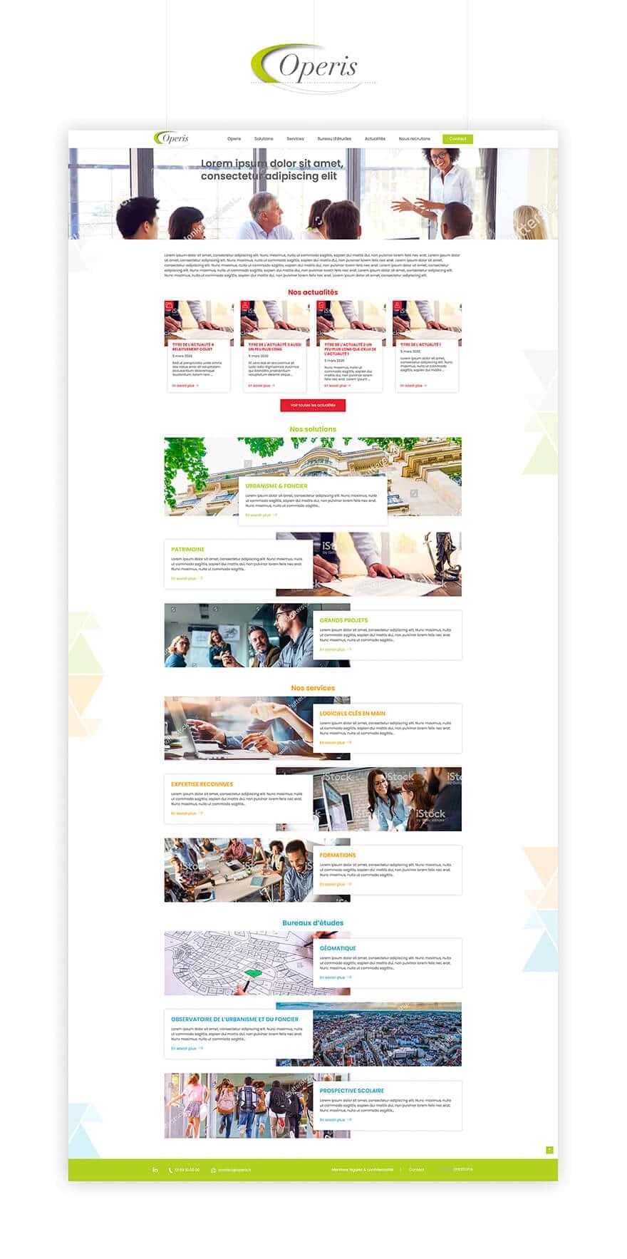 Site web Operis
