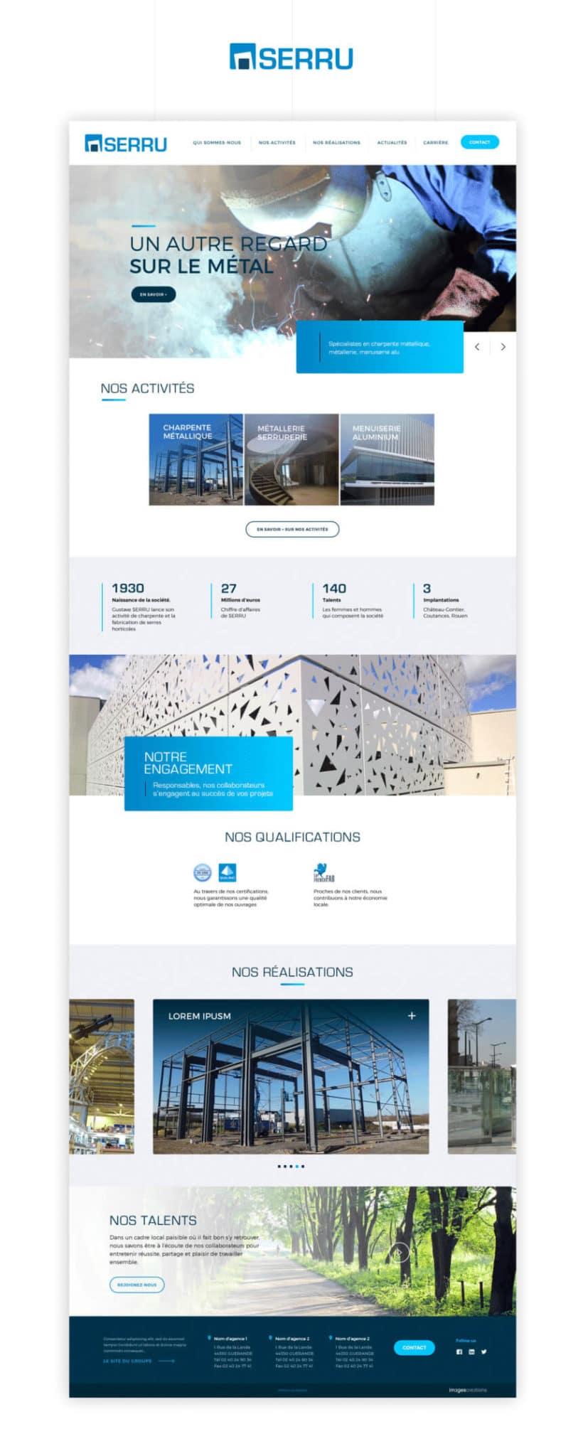 Site web Serru Groupe Acieo