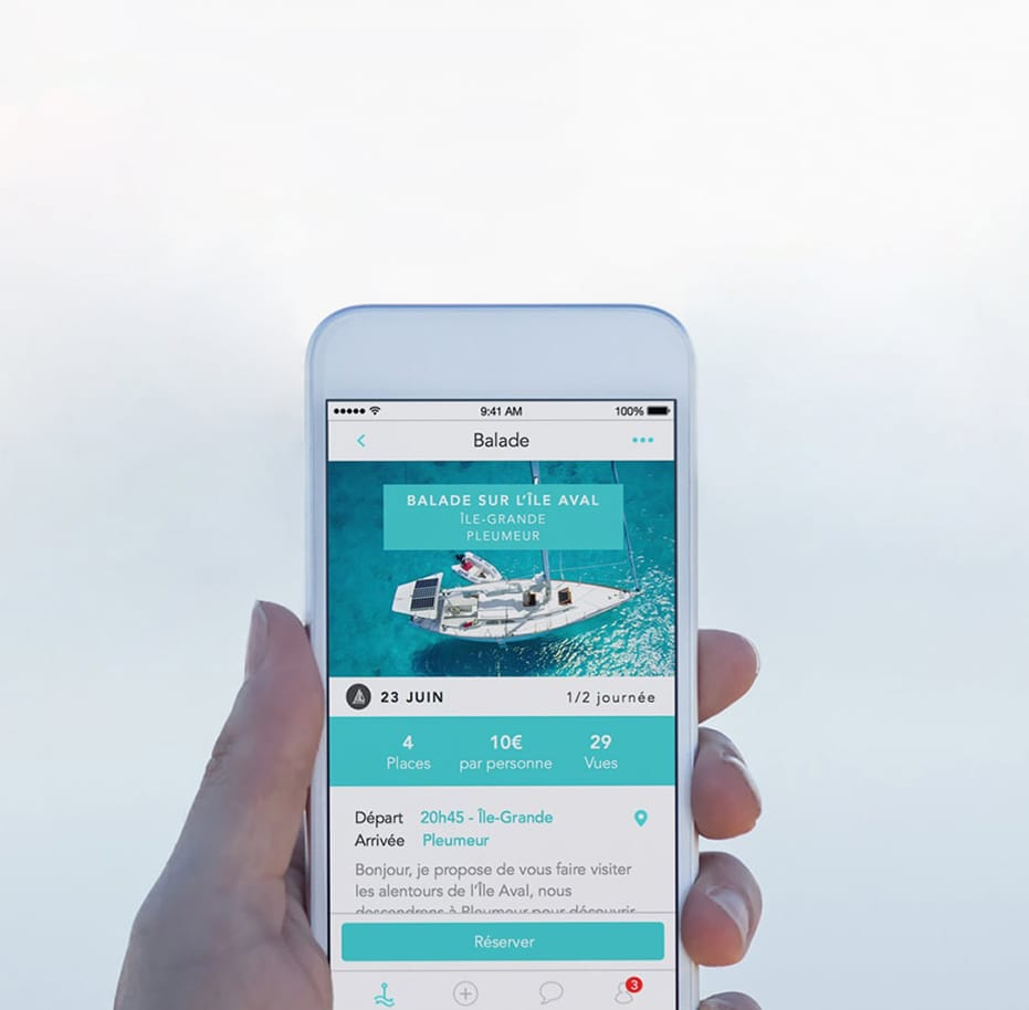 Application mobile ShareMySea